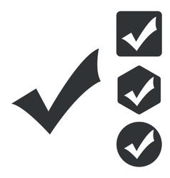 Select icon set monochrome vector