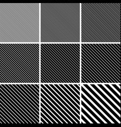 set diagonal stripe line patterns diagonal vector image
