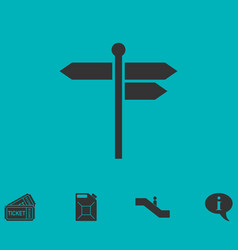 Signpost icon flat vector