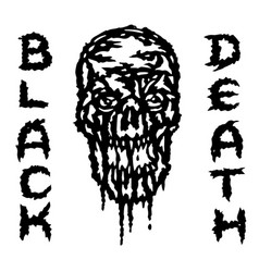 Skull is bleeding black death vector