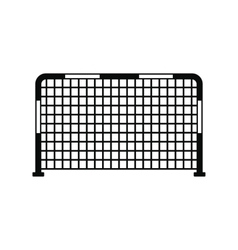 Soccer goal black simple icon vector