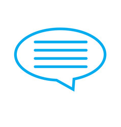 speech bubble icon on white background speech vector image