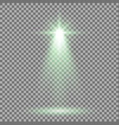 spotlight glow effect light beam green color vector image
