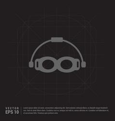 Swimming goggles icon vector