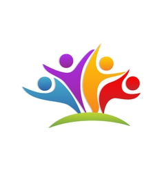 Teamwork union people logo vector image vector image