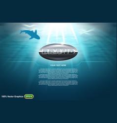 Undersea world template vector