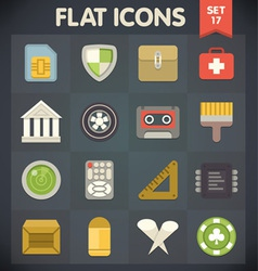 Universal Flat Icons for Applications Set 17 vector image