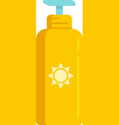 Uv protection lotion icon flat isolated vector