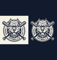 Vintage sport team monochrome logo vector