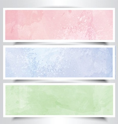 Watercolor headers vector image vector image