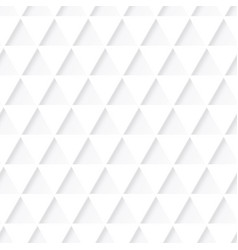 white triangle pattern vector image