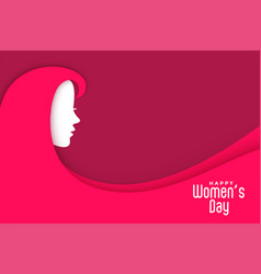 Womens day creative background with lady face vector