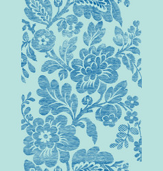 6 Abstract hand-drawn floral seamless pattern vector image vector image