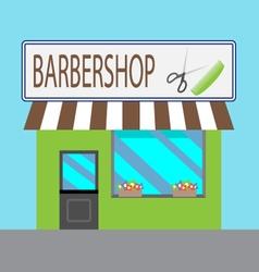 Barbershop building cartoon style vector image