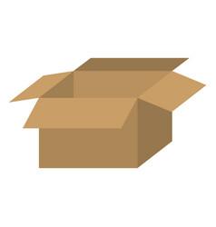 brown box open icon vector image