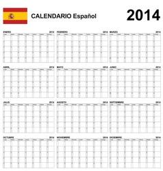 Calendar 2014 Spain Type 22 vector image