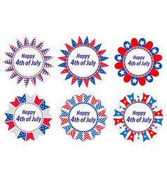 independence day america usa set of round frames vector image vector image