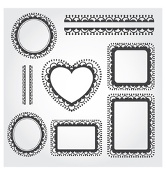 Ornament Frame Set vector image