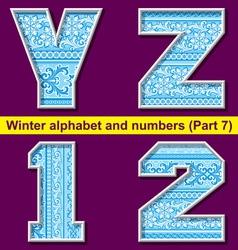 winter abc 07 vector image vector image