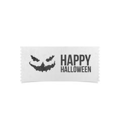 Happy Halloween Party Ticket Design vector image