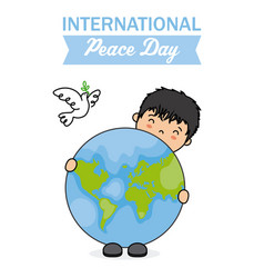 international day of peace vector image vector image