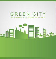 isolated city buildings on green design vector image