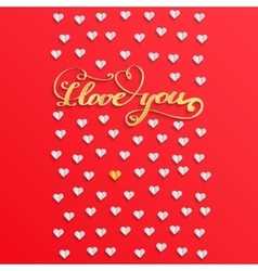 Valentines day concept with heart vector image vector image