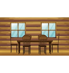 A table and chairs vector image vector image
