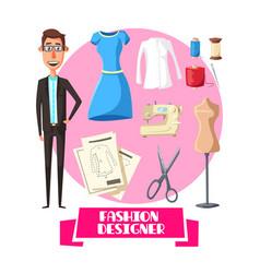 fashion designer profession accessories vector image vector image