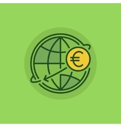 International money transfer green icon vector image vector image