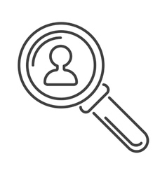 Magnifying glass flat loupe icon vector image vector image