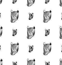 rhino seamless pattern vector image vector image