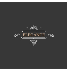 Vintage retro label and luxury logo restaurant vector image