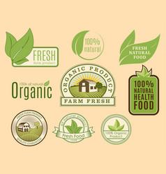 bio farm organic eco healthy food templates and vector image vector image
