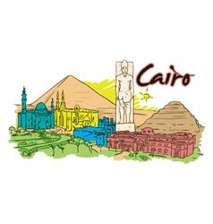 cairo doodles vector image