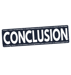 conclusion stamp vector image