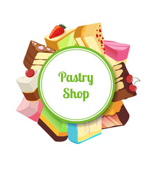 For pastry shop or vector