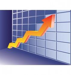 growing trend vector image