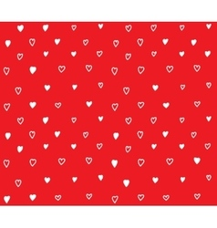 Red hearts seamless pattern with love vector image