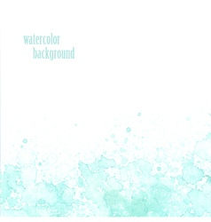 Watercolor background for layout blue splashes vector image vector image