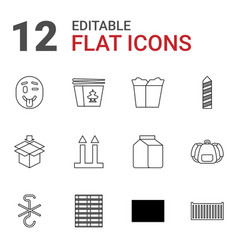 12 pack icons vector