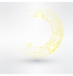 Abstract background with yellow swirl vector image