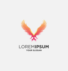 Abstract phoenix logo vector