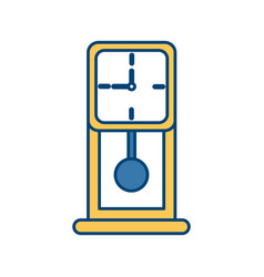 Age old clock pendulum classic square style vector