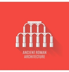 Ancient Roman architecture Long shadows vector