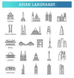 asian landmarks vector image