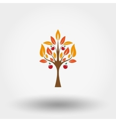 Autumn apple tree vector