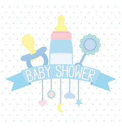 babottle milk and accessories icons vector image