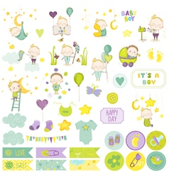 Baboy scrapbook set scrapbooking decorative vector