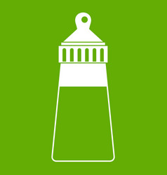 baby milk bottle icon green vector image